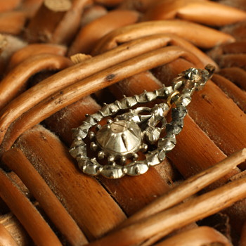 19th century silver and rose cut diamond pendant
