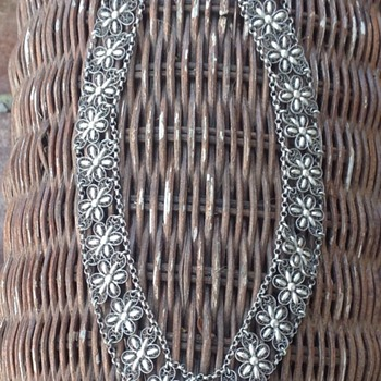 Victorian Silver Filigree Choker/Necklace - Victorian Era