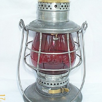 New York, Pennsylvania & Ohio RR Railroad Lantern - Railroadiana