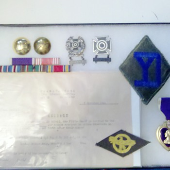 WWII 328th Infantry, 26th Division NAMED Purple Heart grouping! - Military and Wartime