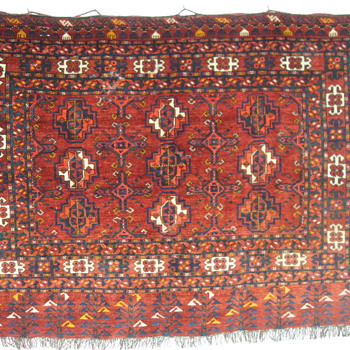 19th Century Saryk Turkomans Chuval Weaving