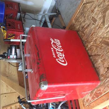 Vintage Coke cooler