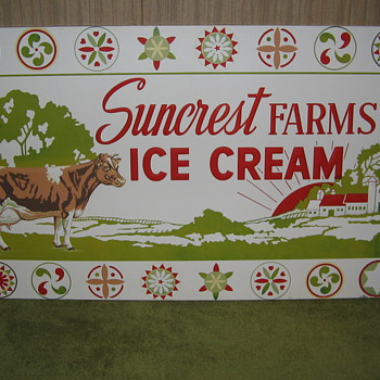 My Dairy Signs. Suncrest Farms - Bethlehem Pa. , Abbotts Dairy & Jane Logan - Philadelphia Pa. - Signs