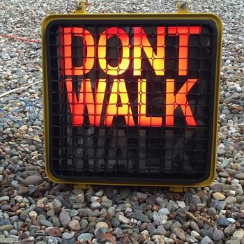 "1990 Peterco ""DONT WALK"" ""WALK"" unit from New York City"