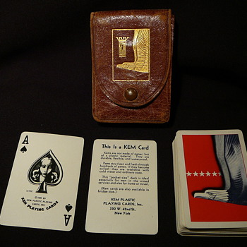 My husband's father's pocket sized playing cards from WWII