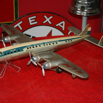 Constellation KLM airplane tin toy made by Tippco - Toys