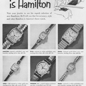 1952 - Hamilton Watch Advertisement