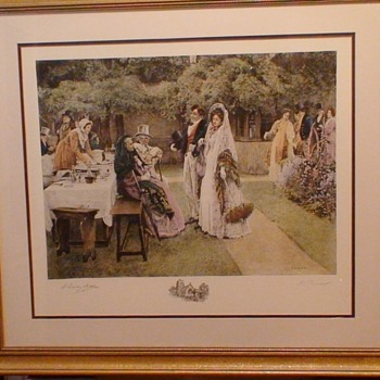"""The Wedding Breakfast"" By Walter Dendy Sadler Signed in Pencil 27 x 30"""