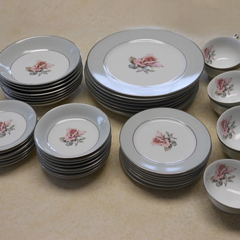 Halsey Dinnerware, Damask Rose Pattern - China and Dinnerware