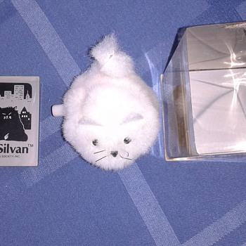 "1980's Dakin Silvia White Cat 2"" Wind-up Japan Artist Society"