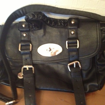 Genuine Mulberry  Black Alexa Handbag - Used