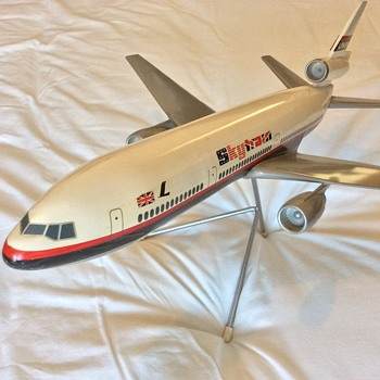 Laker Airways Skytrain DC10 Original Company Model AeroPlane - Advertising
