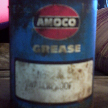 50's or 60's Amoco #1lb Grease Can - Petroliana