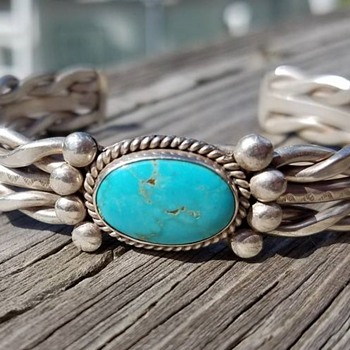 Sterling and Turquoise Bracelet - Fine Jewelry