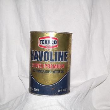 Texaco Havoline Can - Petroliana