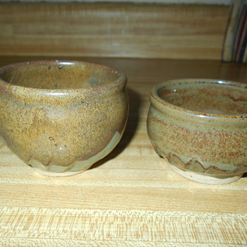 Studio Art Pottery Cups Bowls Asian? Help Identify?