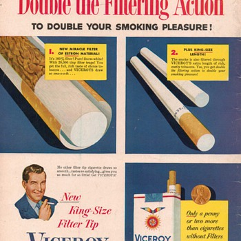 1954 Viceroy Cigarette Advertisement - Advertising