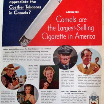 CIGARETTE COMMERCIALS FROM THE 20'S-30'S - Advertising
