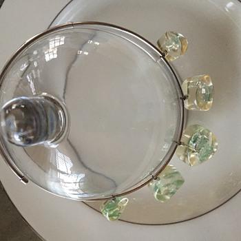 Liquid silver lucite choker