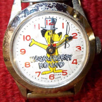 1959-63 Huckleberry Hound Wristwatch - Wristwatches