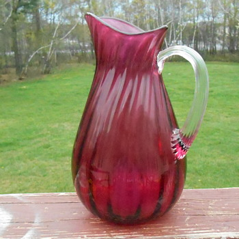 Murano Cranberry Pitcher