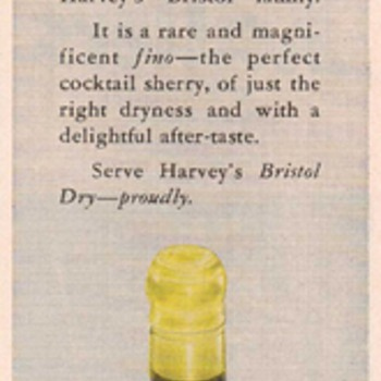 1950 Harveys Bristol Dry Sherry Advertisement - Advertising