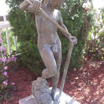 4 Foot Tall Cast Bronze Roman Garden Ornament