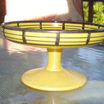 Yellow Glass Bowl - Art Glass