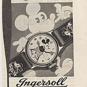 Nice Bullwinkle ad by Buren watch co. 1969, and a 1935 Mickey watch ad. - Wristwatches