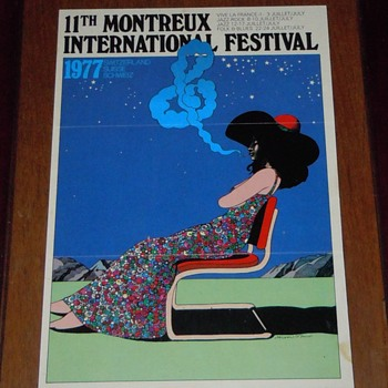 1977 Montreux Jazz festival  programe  - Advertising