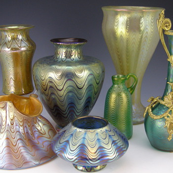Loetz PG 6893 was not only fairly common but was made in almost every color that Loetz produced! - Art Glass
