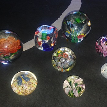 Blown glass paper weights