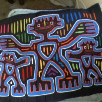 Handmade molas from sand blast  islands off the east coast - Folk Art