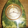 Green and Black Oynx, Original Leon Hatot ATO Art Deco Clock, 1930's