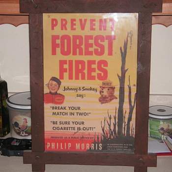 Early Smokey the Bear Poster - Firefighting