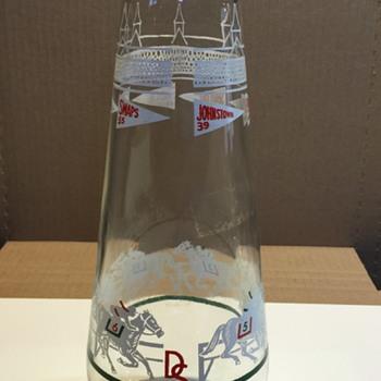 "Unknown D S label Racehorse image Bottle 10-1/2"" tall - Bottles"