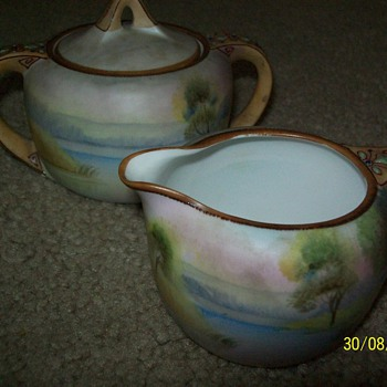 My beautiful sugar and creamer - China and Dinnerware