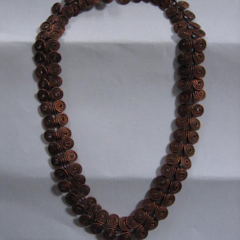 Hand made Copper Neckles  - Photographs