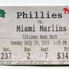 Phillies Baseball Ticket 2015...