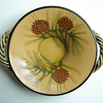 french art nouveau pottery bowl by  AEGITNA studio, by Placide Saltalamacchia ( south of france)