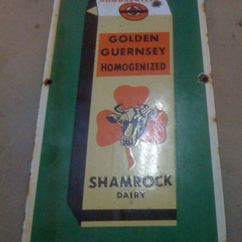 Shamrock Dairy Sign - Advertising