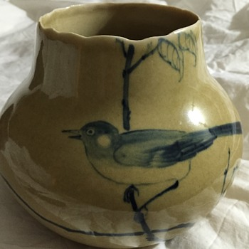 Little blue bird vase