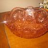 Antique  American Brilliant Cranberry Cut Glass Bowl By Libbey