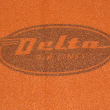 Vintage Virgin Wool Delta Airlines Blanket