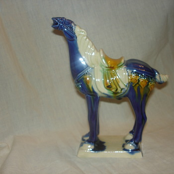 Chinese Tang Dynasty Majolica Glaze or Glazed War Horse