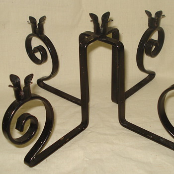 METAL CANDLE STICKS HOLDER ANY IDEA OF AGE? - Lamps