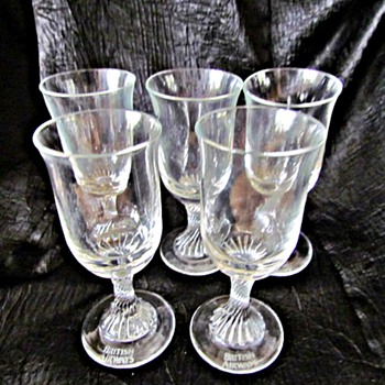 British Airways First Class 747 Aperitif Glasses - Glassware