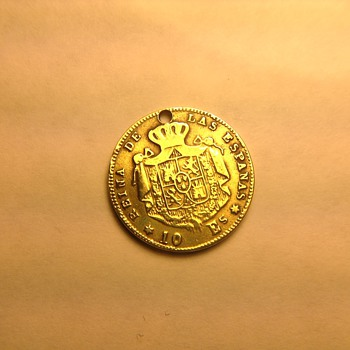 10 Es Spain gold coin