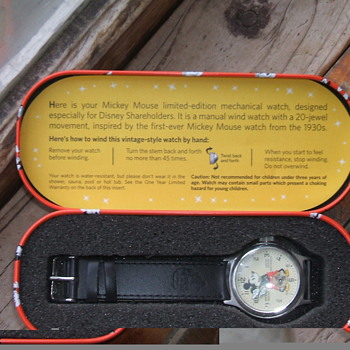 Disney Shareholders Mickey Watch