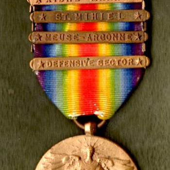US Victory Medal with Citation Star and Five Clasps - Military and Wartime